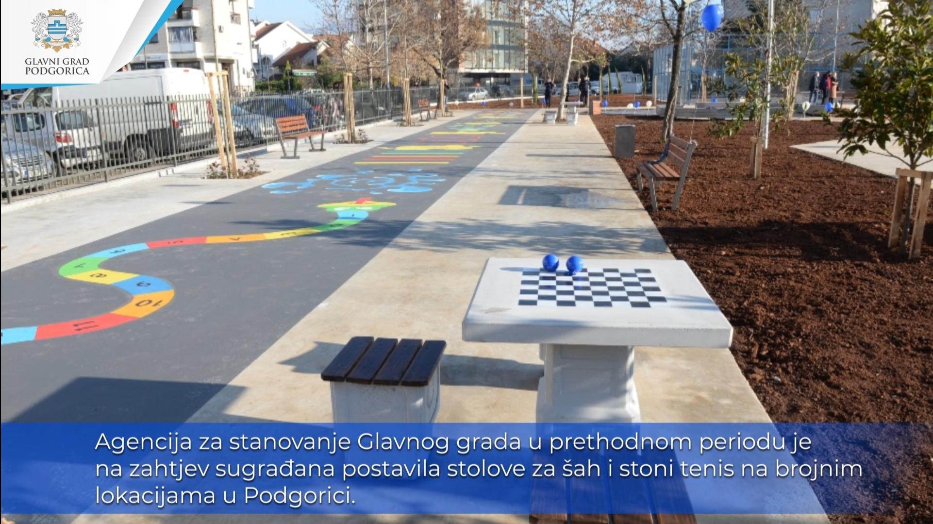 Građani Podgorice zadovoljni uslovima za stoni tenis i šah na otvorenom; Ovakvi sadržaji uskoro na novim lokacijama