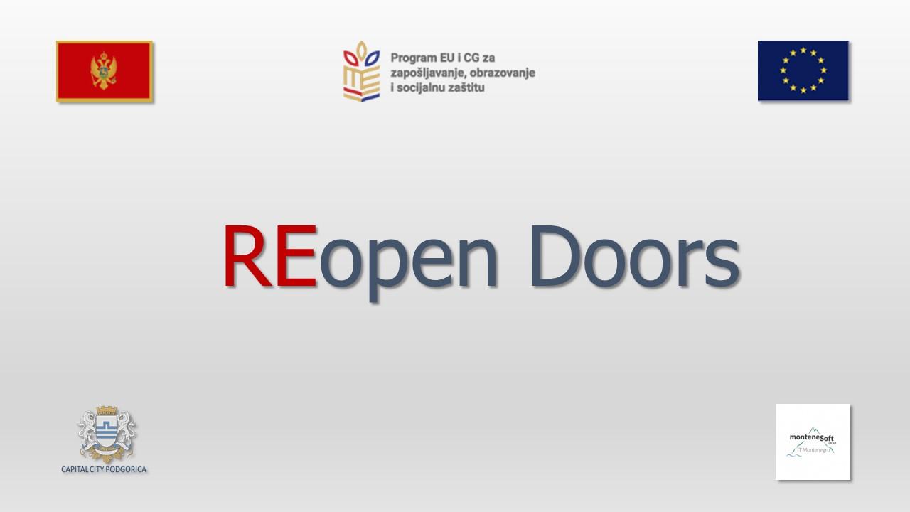 Press konferencija povodom uspješne realizacije projekta REopen Doors