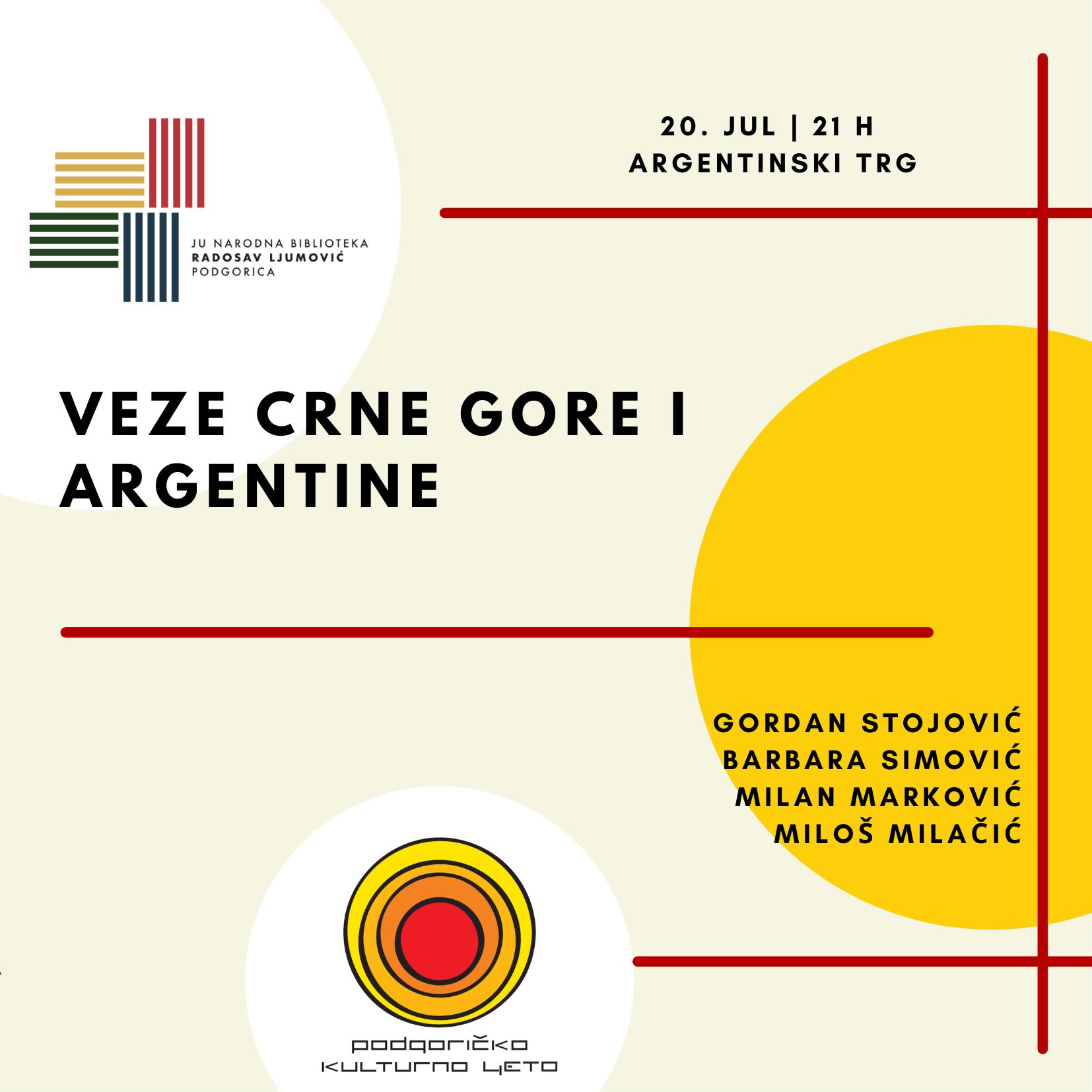 "Tribina na temu ""Veze Crne Gore i Argentine"""