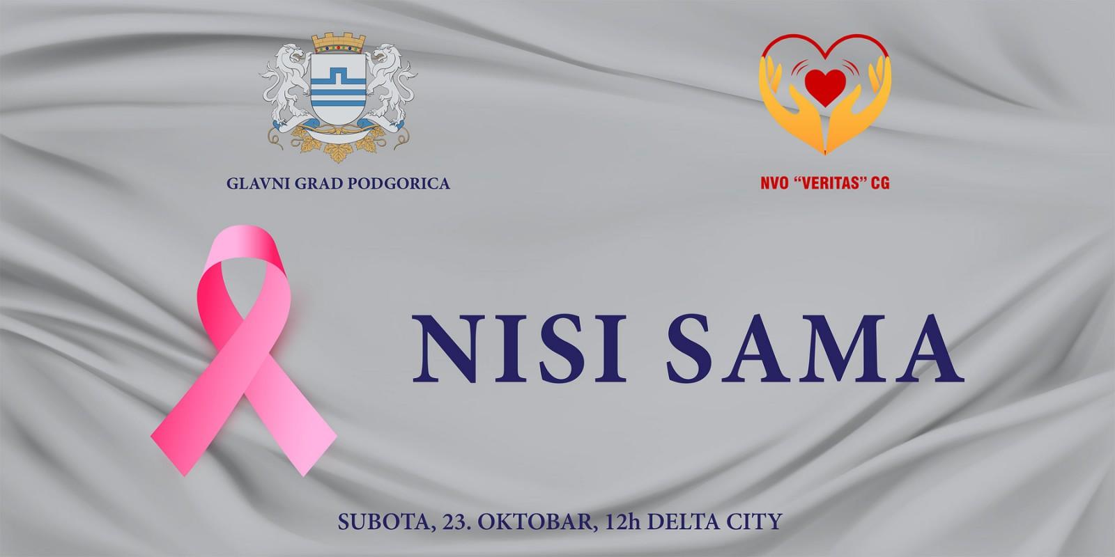 Najava: Obilježavanje Dana borbe protiv karcinoma dojke u okviru Ružičastog oktobra