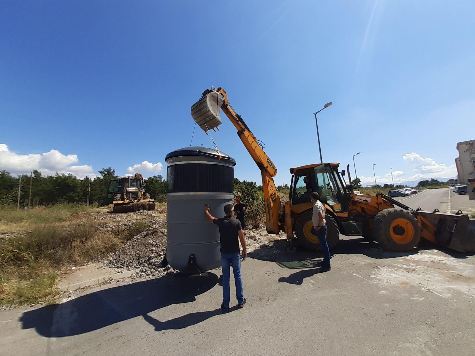 Veći dio Podgorice dobio nove kontejnere za razvrstavanje otpada