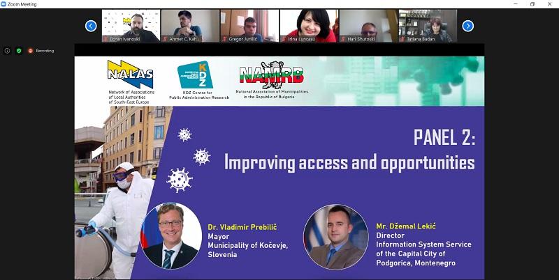 Digitalizacija Glavnog grada predstavljena kao dobra praksa u borbi protiv koronavirusa na međunarodnoj konferenciji asocijacija lokalnih samouprava za Jugoistočnu Evropu