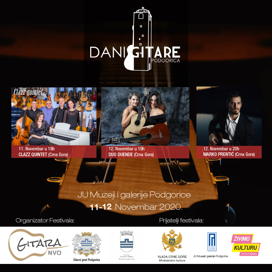 "Online festival ""Dani gitare u Podgorici"" 11-12.novembra"