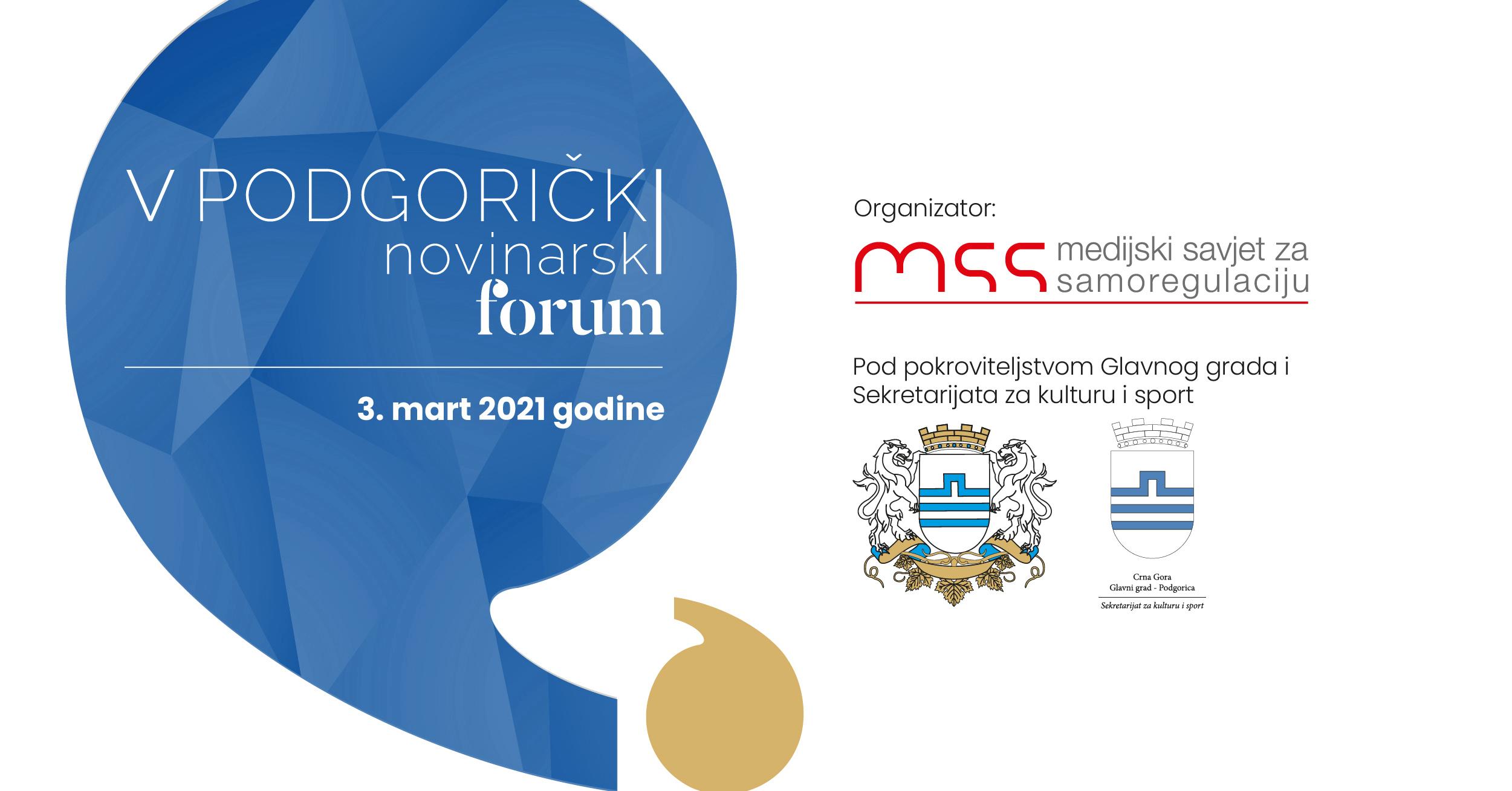 Peti Podgorički novinarski forum (live)