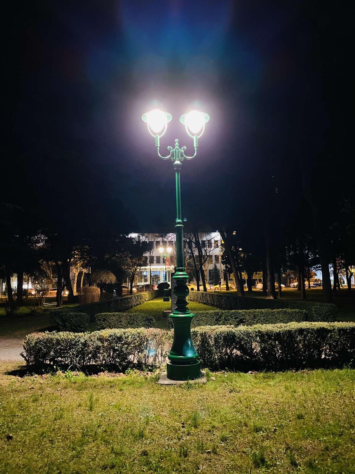 Obnovljena rasvjeta u parku Ivana Milutinovića