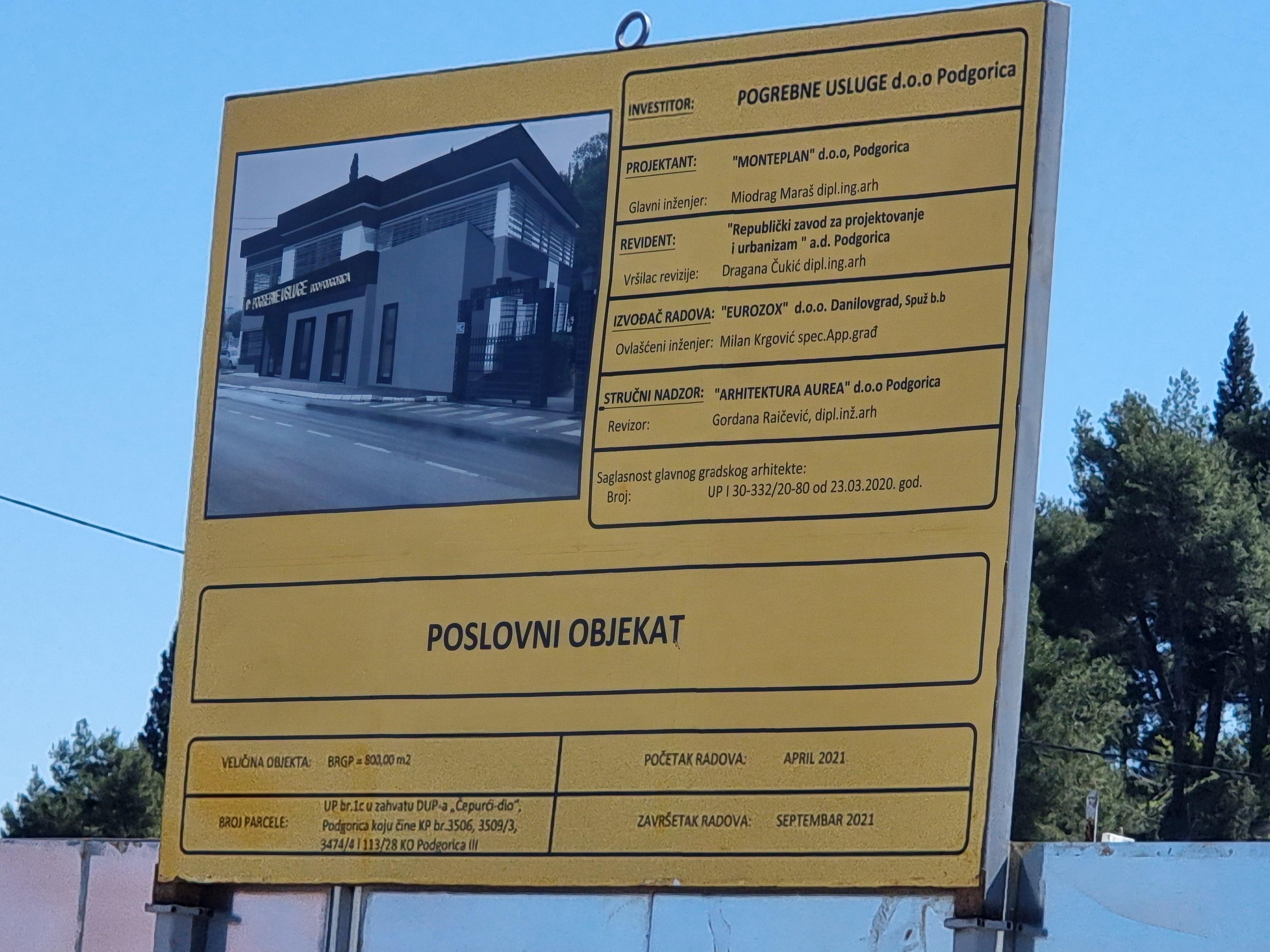Najava: Početak izgradnje poslovne zgrade gradskog preduzeća Pogrebne usluge